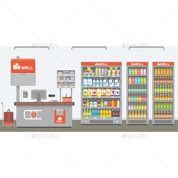 Supermarket Interior - Buildings Objects