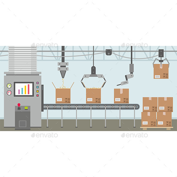 Conveyor System - Man-made Objects Objects