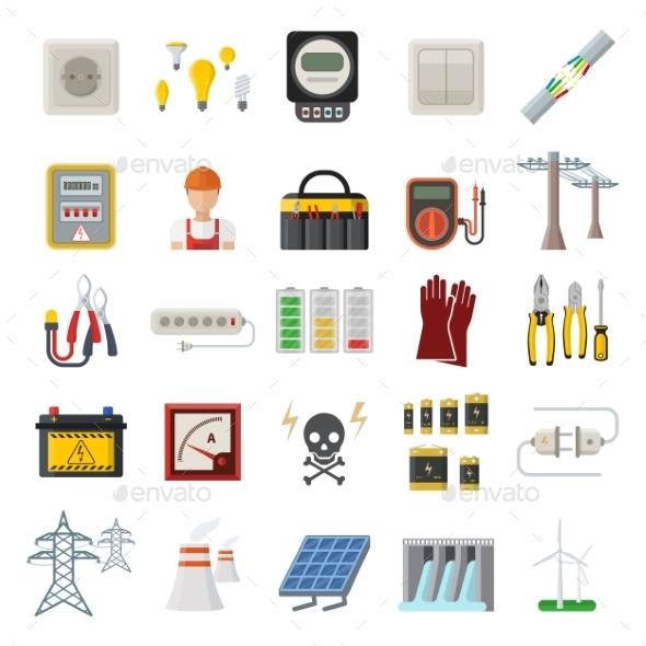 Energy Power Icons - Miscellaneous Vectors