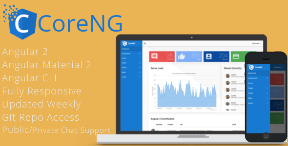 CoreNG – Angular 2 Material Design Admin Template