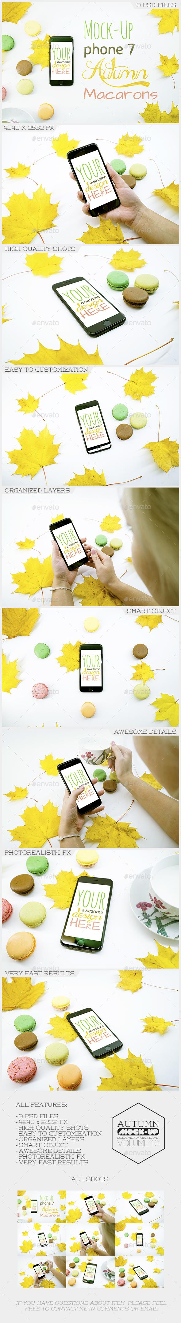 Mock-Up Phone 7 Autumn Macarons - Mobile Displays