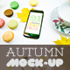Mock-Up Phone 7 Autumn Macarons