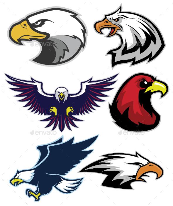 Eagle Mascot Logo - Animals Characters