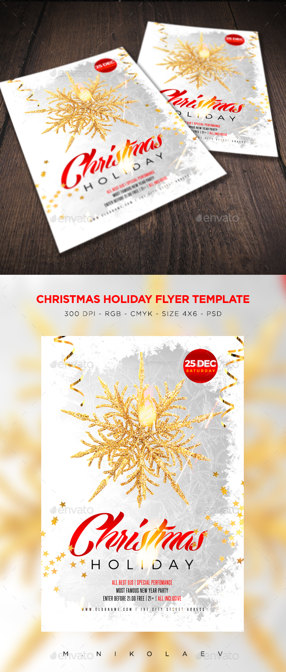 Christmas Holiday Flyer V3 - Clubs & Parties Events