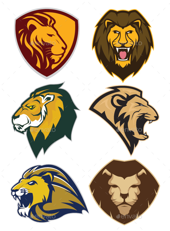 Lion Mascot Logo - Animals Characters
