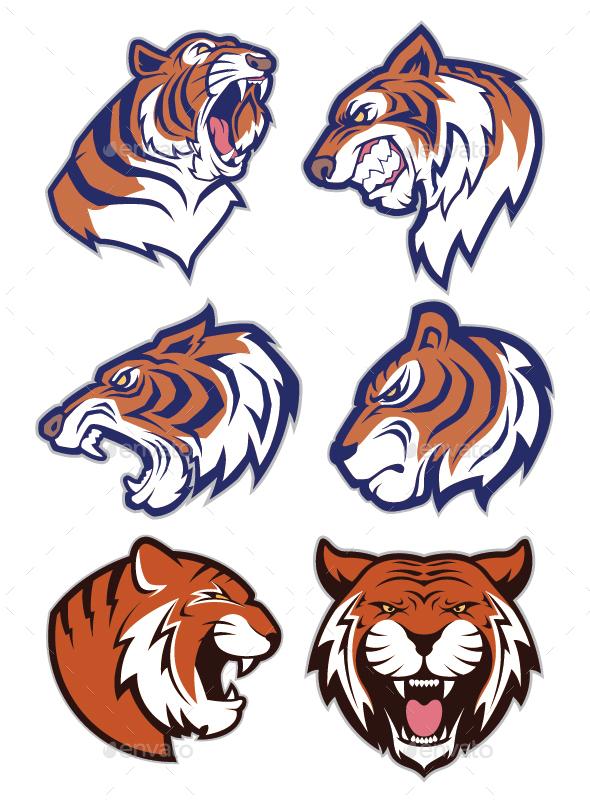 Tiger Mascot Logo - Animals Characters