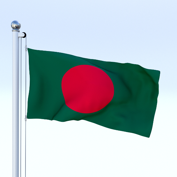 Animated Bangladesh Flag - 3DOcean Item for Sale