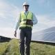 Man In Vest Walking Near Solar Panels - VideoHive Item for Sale