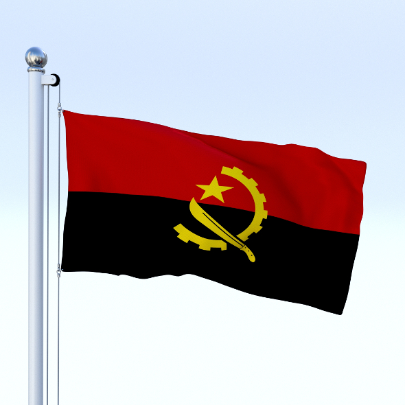Animated Angola Flag - 3DOcean Item for Sale