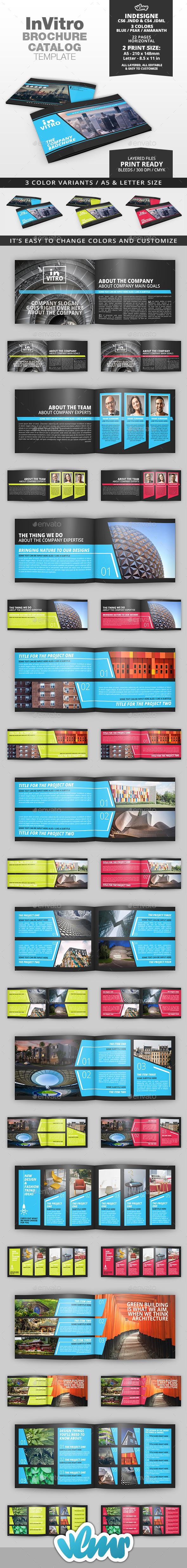InVitro Company Brochure / Catalog Template - Catalogs Brochures