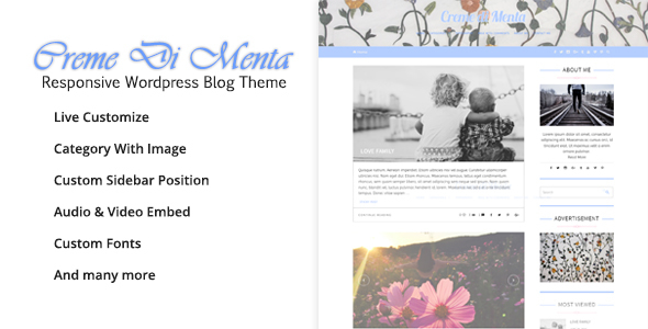 Creme Di Menta – Responsive WordPress Blog
