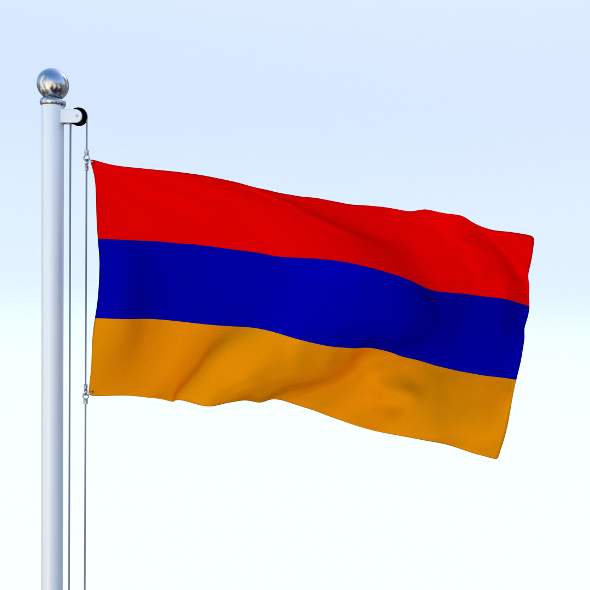 Animated Armenia Flag - 3DOcean Item for Sale
