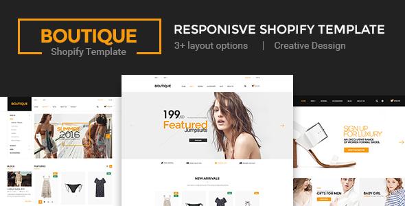 Boutique - Multi Store Responsive Shopify Theme