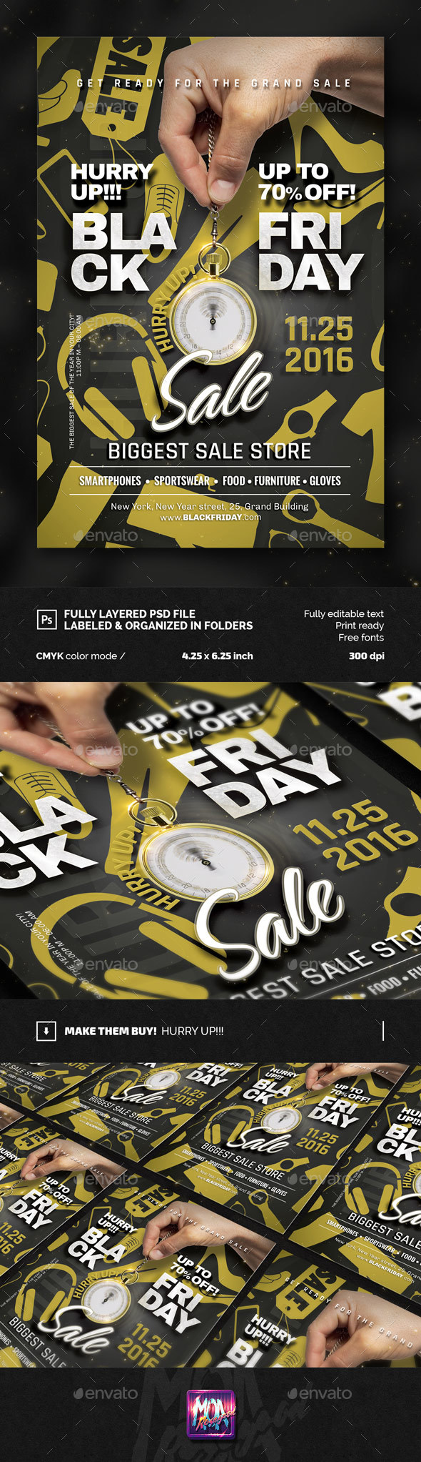 Black Friday / Sale flyer Template - Commerce Flyers