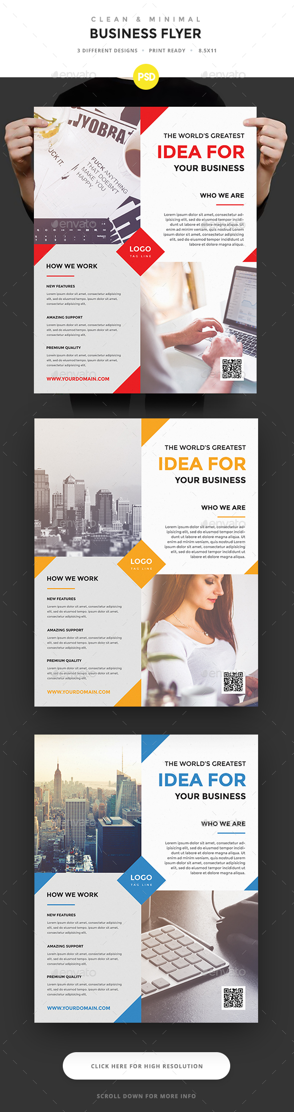 Minimal Business Flyer - Corporate Flyers