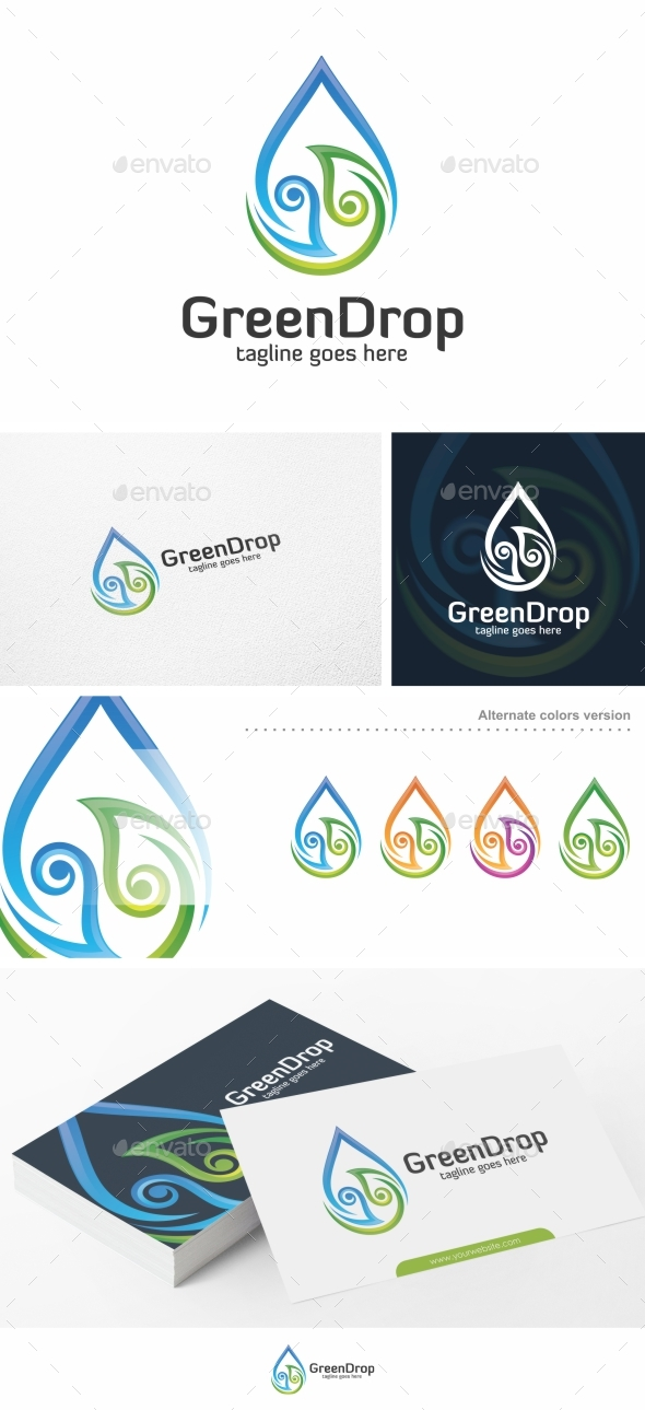 Green Drop - Logo Template - Nature Logo Templates