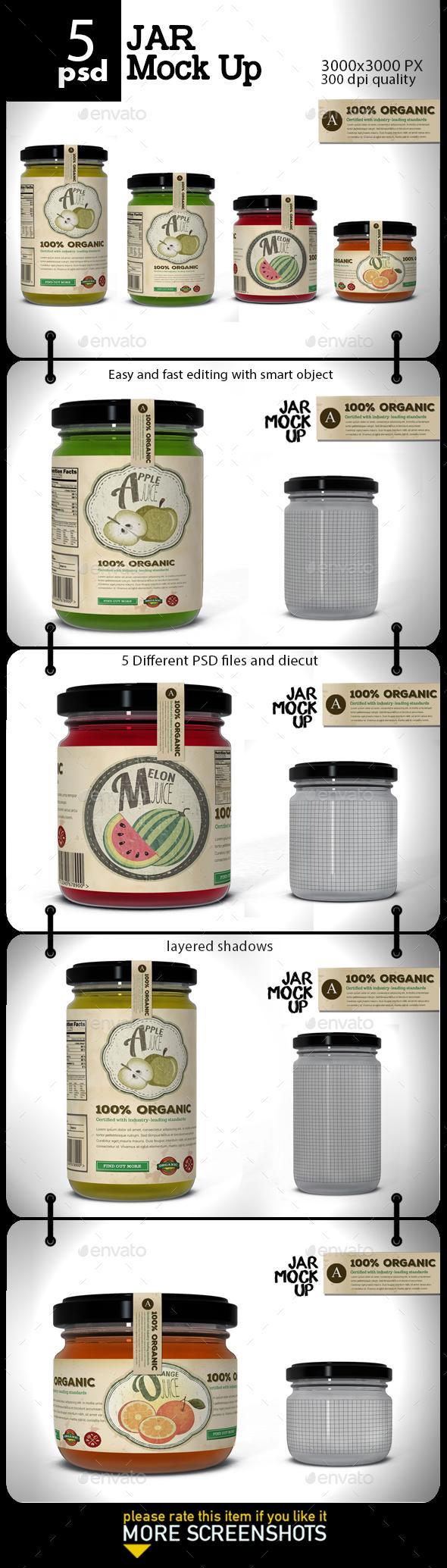 Jar Mock Up - Product Mock-Ups Graphics