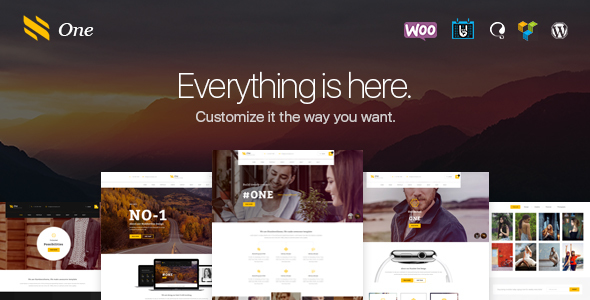 One – Business Agency Events & eCommerce Theme