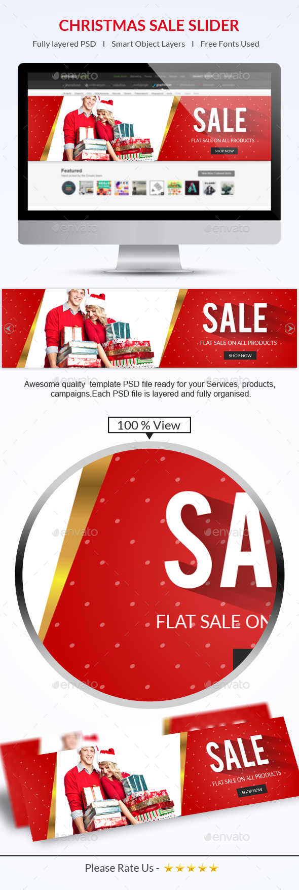 Christmas Sale Slider - Sliders & Features Web Elements