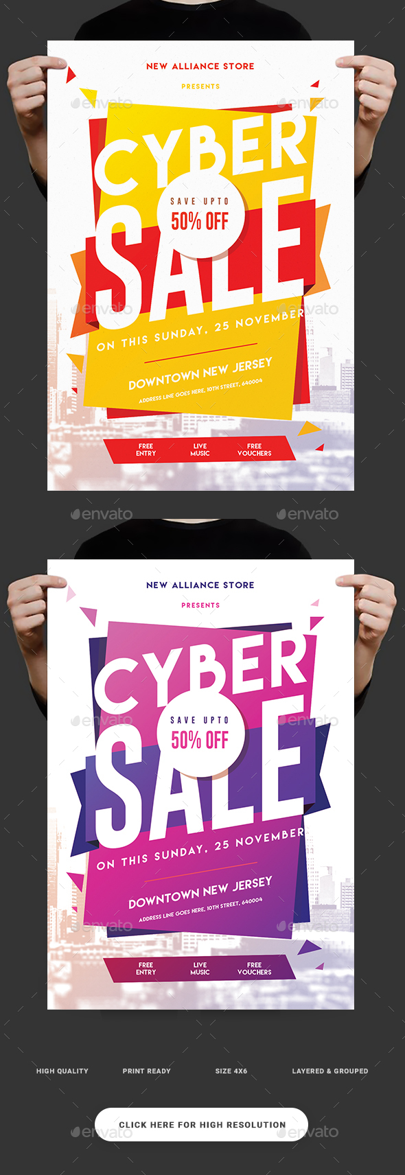 Cyber Sale Flyer - Events Flyers