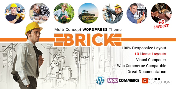 Brick – Multi Concept WordPress Theme - Corporate WordPress