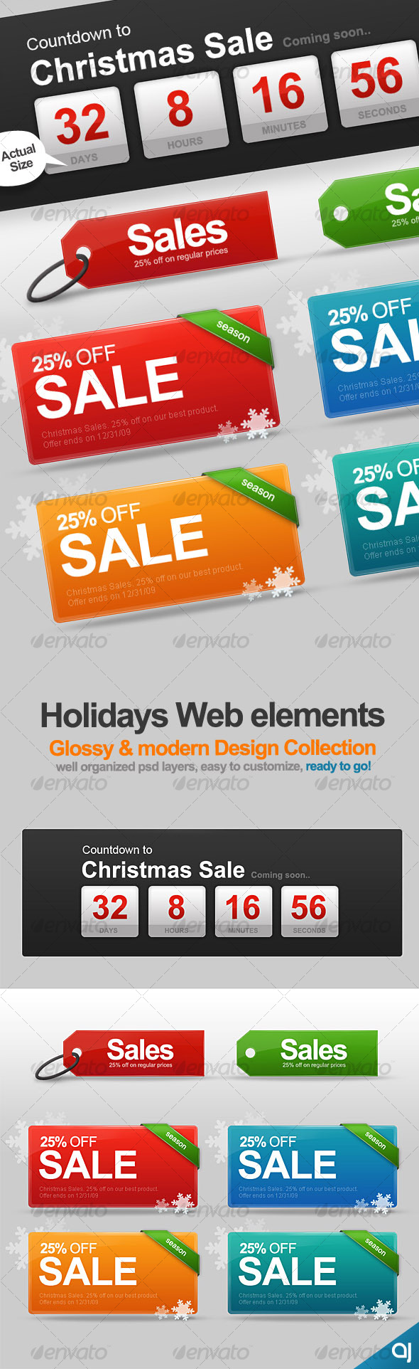 Holiday Web Elements collection - Web Elements