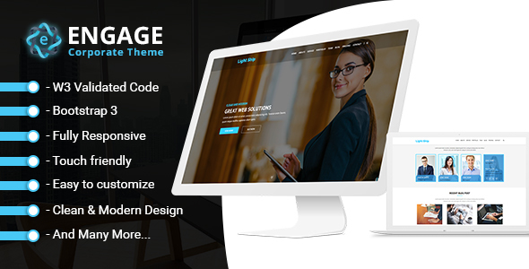 Engage - The Business and Portfolio Template - Business Corporate