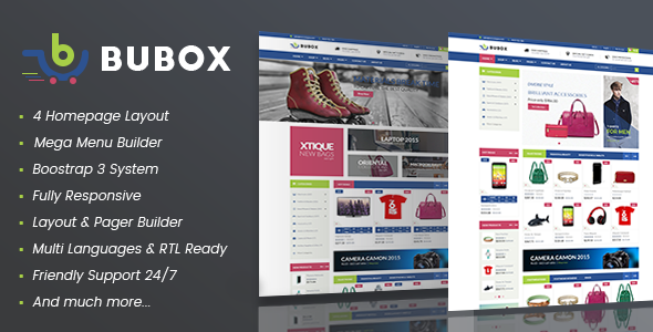 Vina Bubox - VirtueMart Joomla Template for Online Stores - VirtueMart Joomla