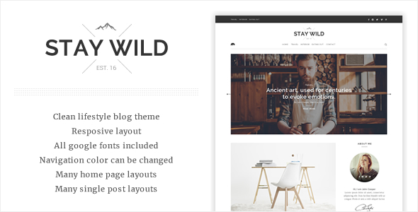 Stay Wild – A Clean Lifestyle Blog Theme