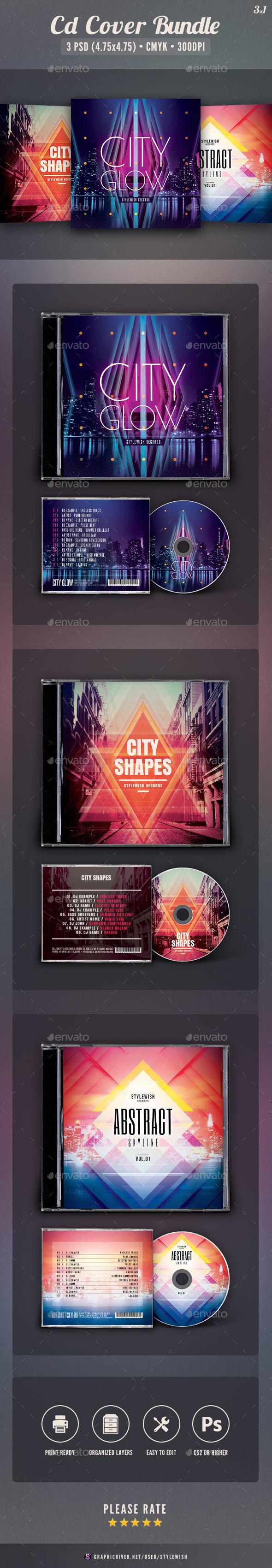 City CD Cover Bundle Vol.03 - CD & DVD Artwork Print Templates