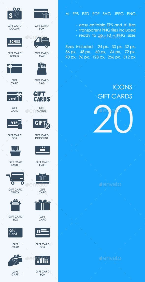 Gift Cards icons - Objects Icons