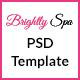 Brightly Spa - Beauty Blog - PSD Template - ThemeForest Item for Sale