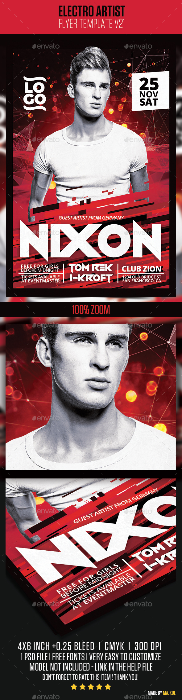 Electro House Artist Flyer v21 - Clubs & Parties Events
