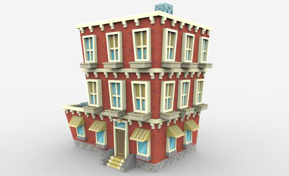 Low poly building block - 3DOcean Item for Sale
