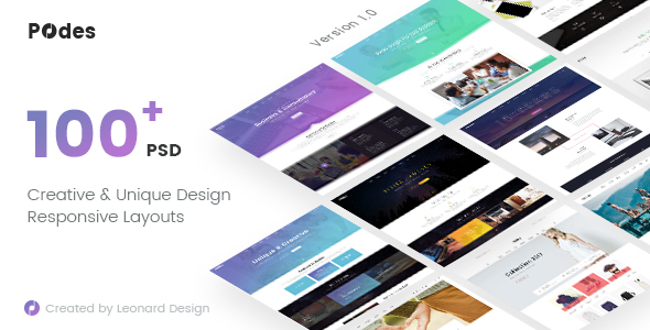 Podes | Responsive Multi-Purpose PSD Template
