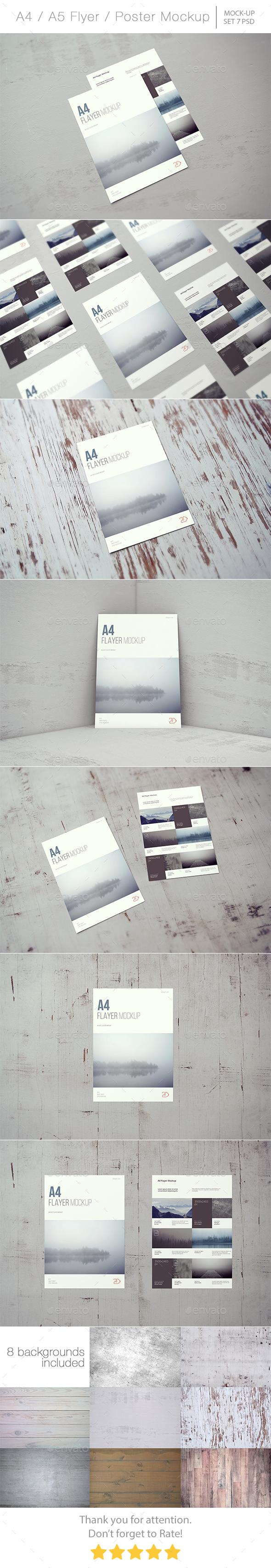 A4 / A5 Flyer / Poster Mockup - Flyers Print