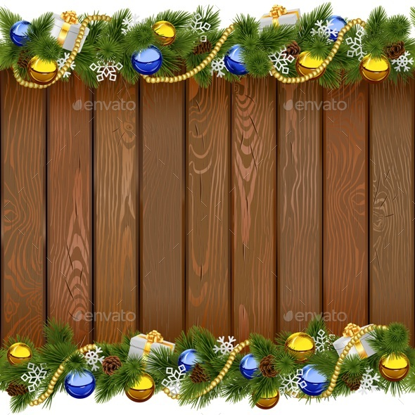 Vector Seamless Christmas Board with Golden Beads - Christmas Seasons/Holidays