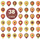 Set of Fruits and Berries pin map icon - GraphicRiver Item for Sale