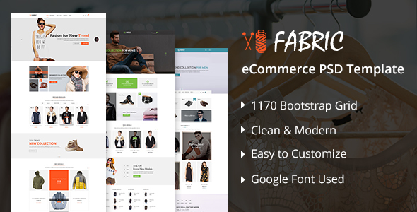 Fabric e-Commerce PSD Template