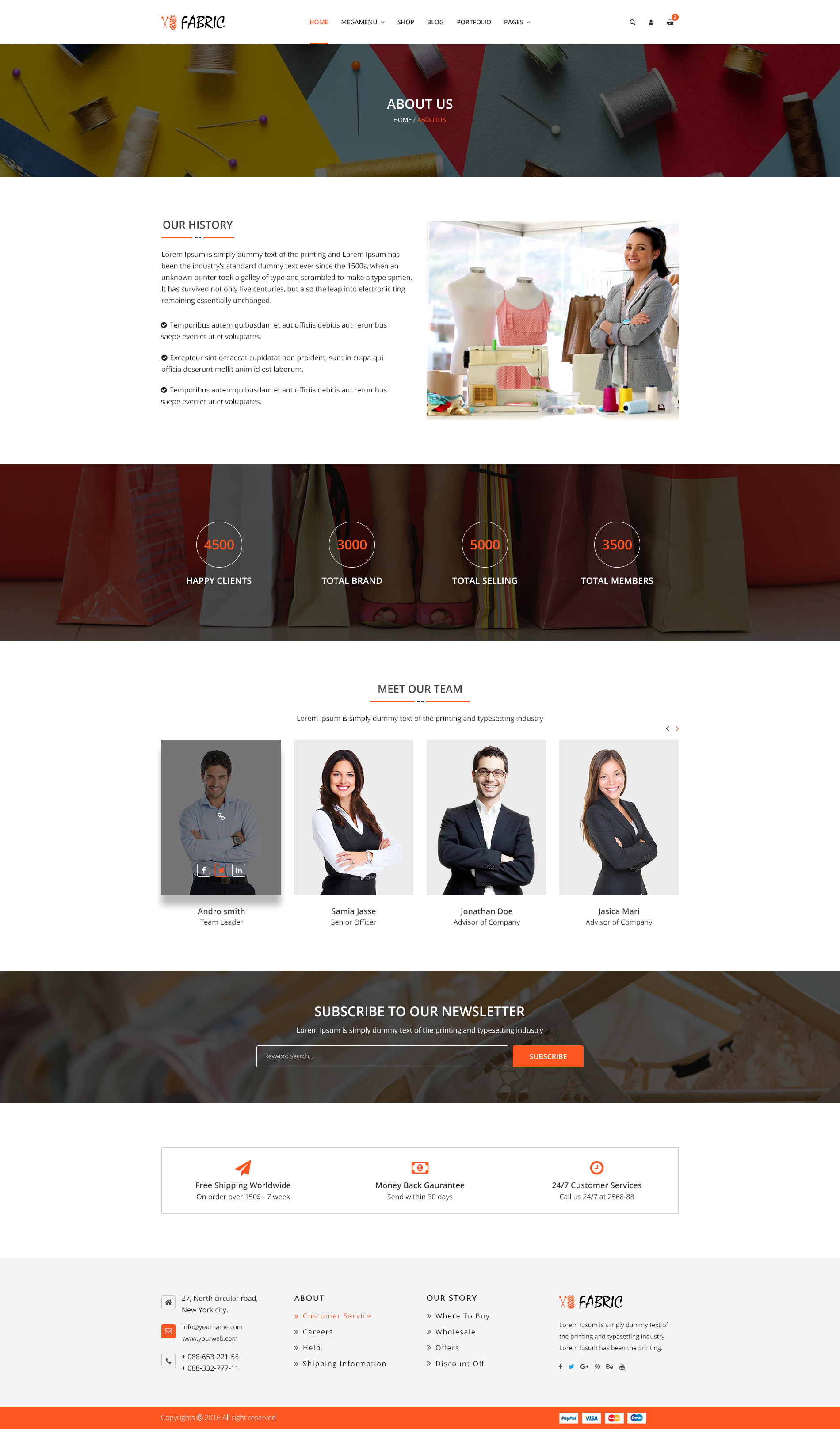 Fabric e-Commerce PSD Template by BootScore | ThemeForest