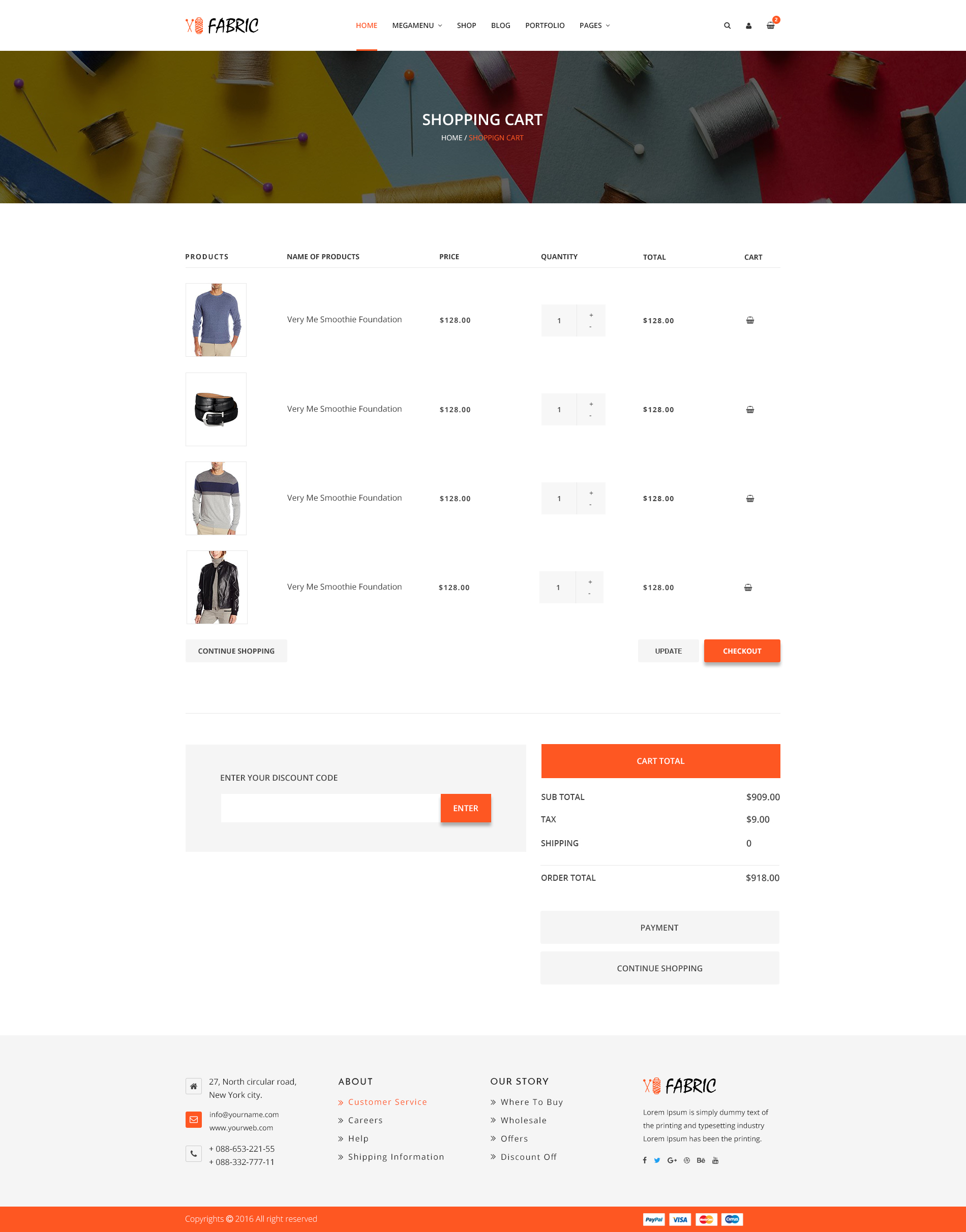Fabric Ecommerce PSD Template OFF Now By BootScore ThemeForest - Responsive shopping cart template