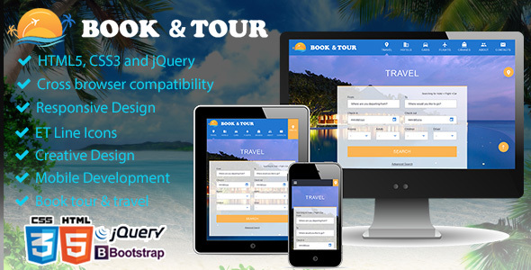 Book tour, Travel & Travel Agency Theme