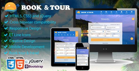 Book tour, Travel & Travel Agency Theme