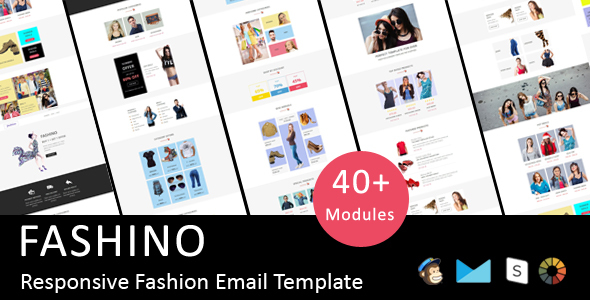Fashino – Responsive Email Template + Stampready Online Builder Access