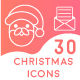 Set of 30 Christmas Icon Set - GraphicRiver Item for Sale