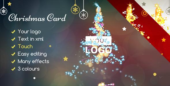 Christmas Card Magic Lights - CodeCanyon Item for Sale