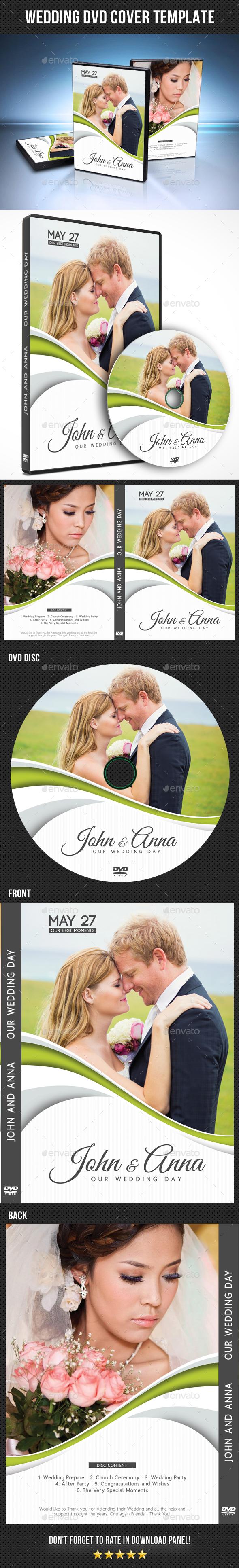 Wedding DVD Cover Template 19 - CD & DVD Artwork Print Templates