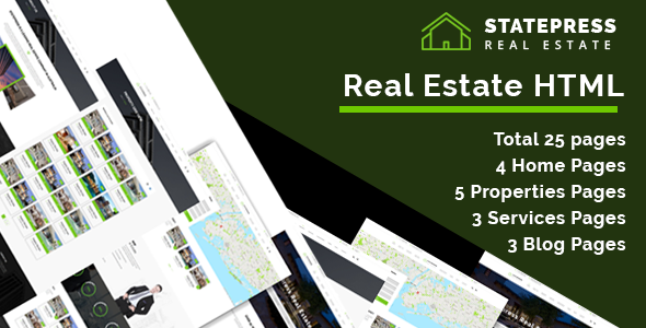StatePress || - Real Estate HTML5 Template - Business Corporate