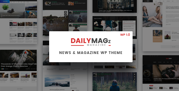 Newspaper WordPress Theme - DailyMagz (News, Magazine, Blog)