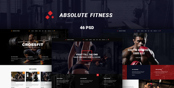 Absolute Fitness – PSD Template